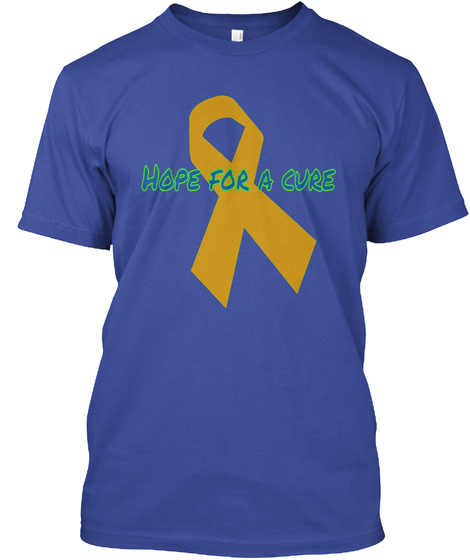 Hope For A Cure Deep Royal T-Shirt Front