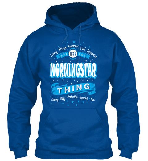 Name Morningstar Christmas Weather Royal T-Shirt Front
