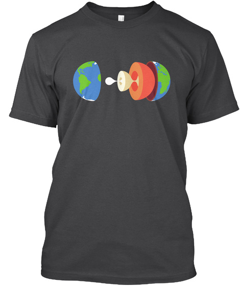 Layers Earth H [Int] #Sfsf Dark Grey Heather T-Shirt Front