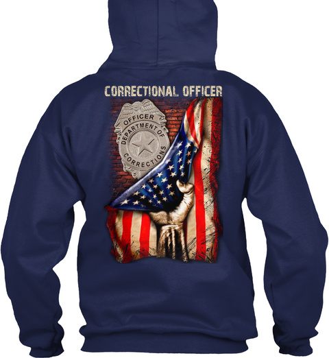 Proud Correctional Officer Navy T-Shirt Back