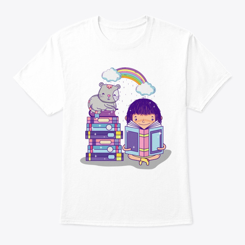 Book Shirt White T-Shirt Front