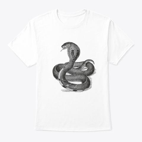 Retro Cobra Snake White T-Shirt Front