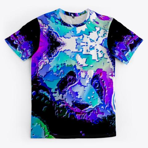 Bc Cat Panda7962 Black T-Shirt Front