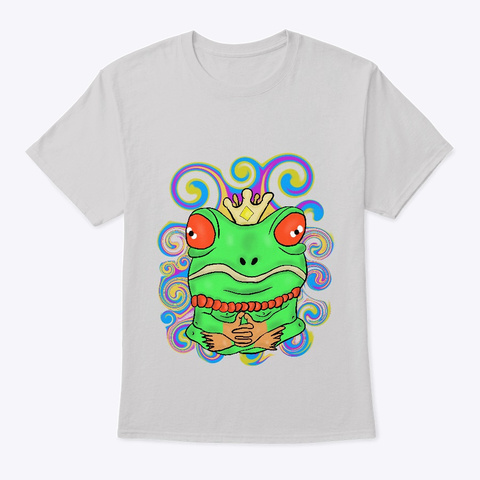 The Frog King Light Steel T-Shirt Front