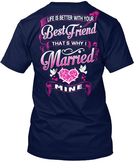 Nl Nl Navy T-Shirt Back