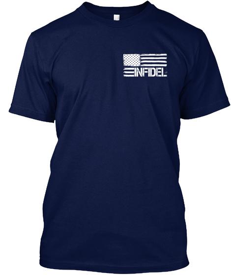Infidel Navy T-Shirt Front