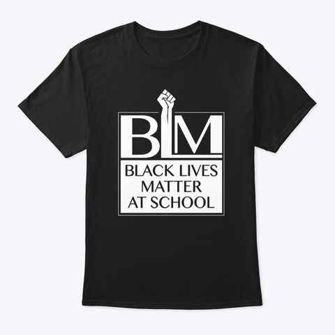 Classic (2019) Blm@School Logo Tee Black T-Shirt Front