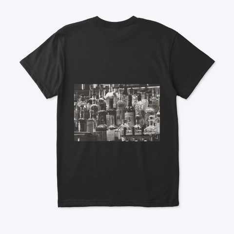 Nps Art Alcohol Collection Black T-Shirt Back