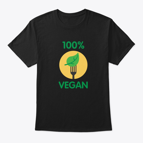 Vegetarian Vegan Shirt Eat Plants Black T-Shirt Front
