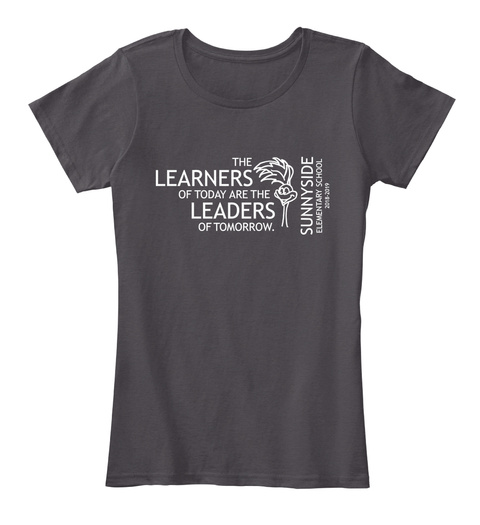 Women's Tee   Sunnyside Elementary Heathered Charcoal  Women's T-Shirt Front
