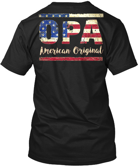 Opa American Original Black T-Shirt Back