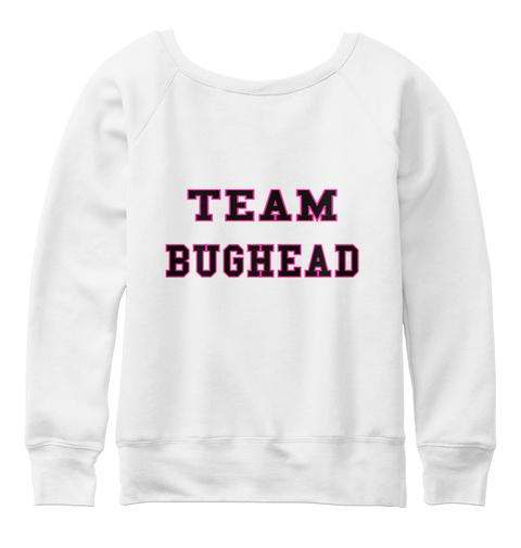 Team Bughead White  T-Shirt Back