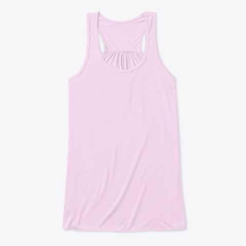 How Expert Women's No Logo Flowy Tank Top Soft Pink T-Shirt Front