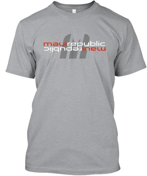Mauirepublic Logo Reverse Heather Grey T-Shirt Front