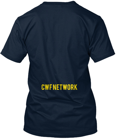 Cwf Network New Navy T-Shirt Back
