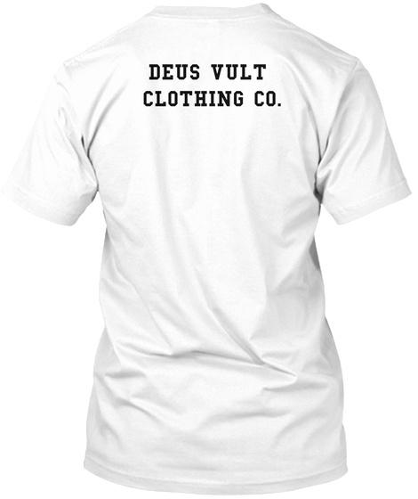 Deus Vult Clothing Co. White T-Shirt Back