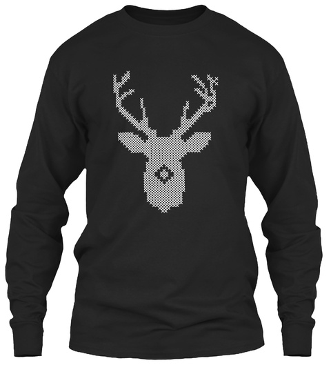Ugly Christmas Sweater Black T-Shirt Front