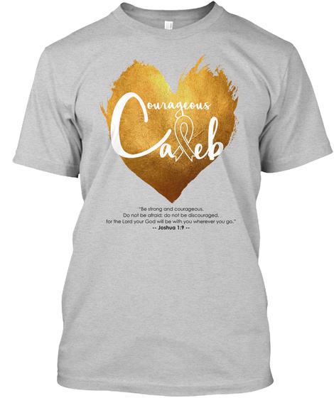 Courageous Caleb Light Steel T-Shirt Front