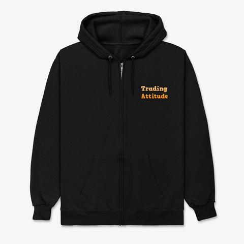 Trading Attitude Orange Black T-Shirt Front