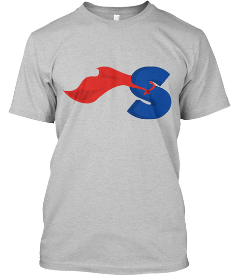 S Light Heather Grey  T-Shirt Front