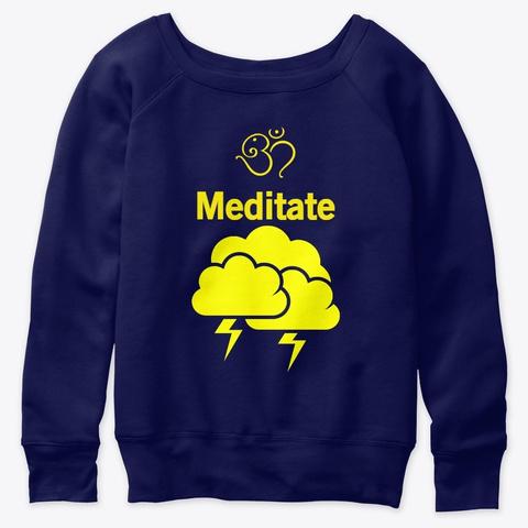Meditation High Navy  T-Shirt Front