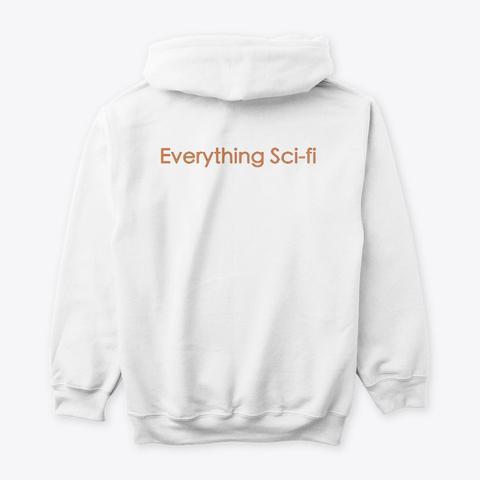 Orange Robot Head Collection  White T-Shirt Back