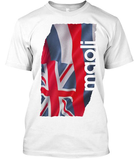 Maoli Tee White T-Shirt Front