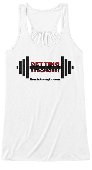 Getting Stronger   Red Gradient White Women's Tank Top Front