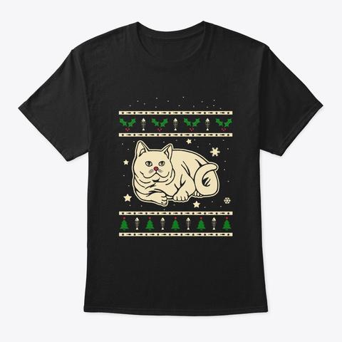Christmas British Shorthair Gift Black T-Shirt Front