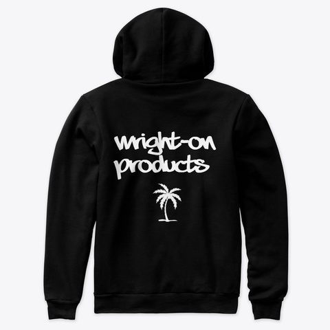 Wright On Products Palm Black T-Shirt Back