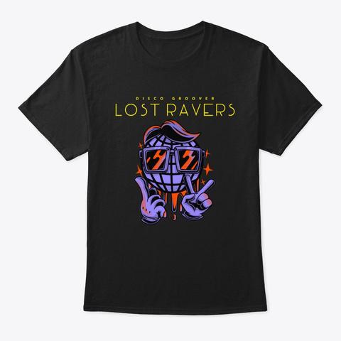 Lost Ravers Disco Ball Edm Trance Dn B  Black T-Shirt Front