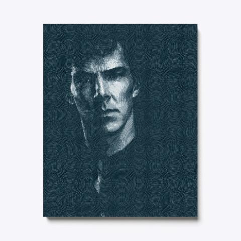 Sherlock Benedict Cumberbatch Engraved Black T-Shirt Front