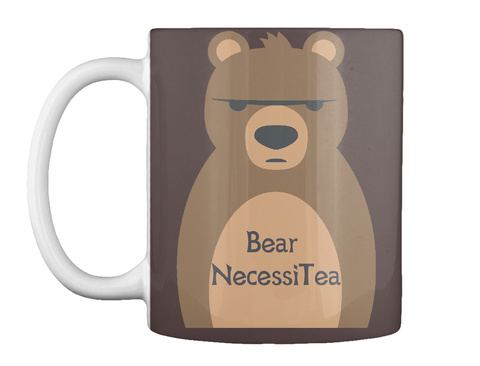 Bear Necessitea Dark Brown Mug Front