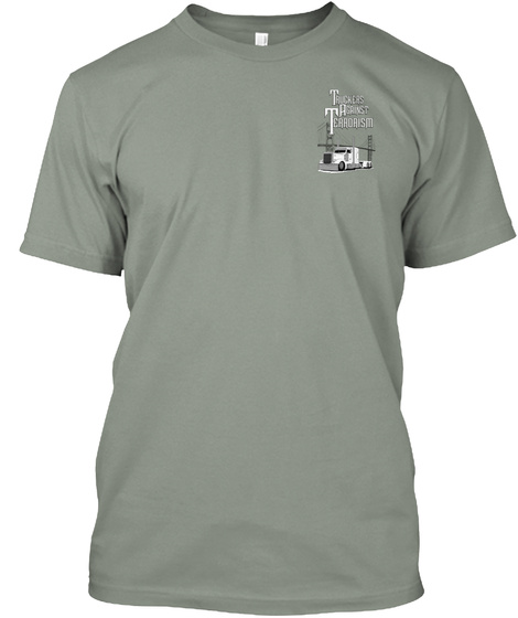Truckers Against Terrorism Grey T-Shirt Front
