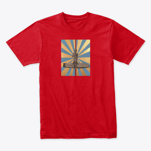 """Suez""  Red T-Shirt Front"