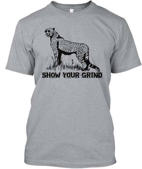Show Your Grind Heather Grey T-Shirt Front