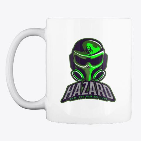 Hazard Mug White T-Shirt Front