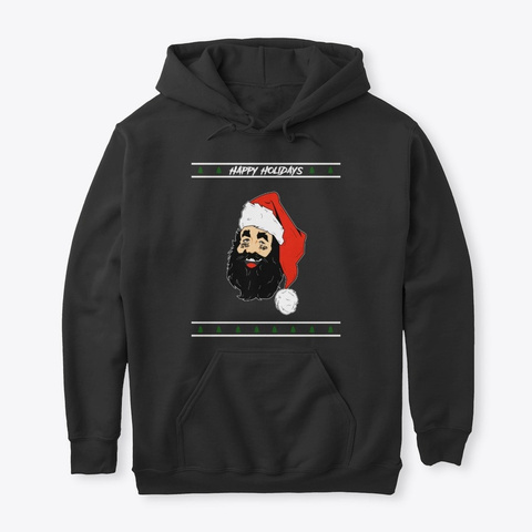 Santa Still Sad Black T-Shirt Front