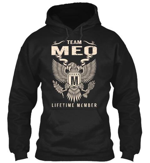 Team Meo M Lifetime Member Black T-Shirt Front