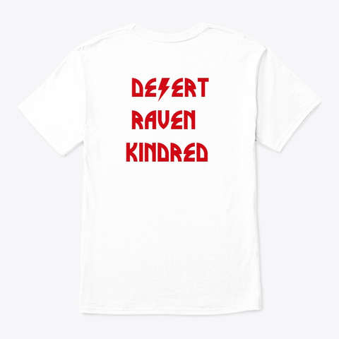 Desert Raven Kindred Drk Magenta White T-Shirt Back