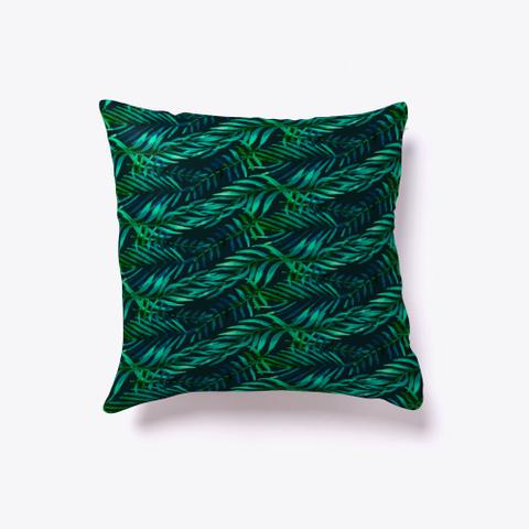 Tropical Palm   Floral Pattern Standard T-Shirt Back