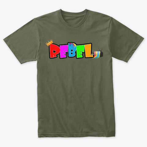 Rebel King (Limited) Military Green T-Shirt Front