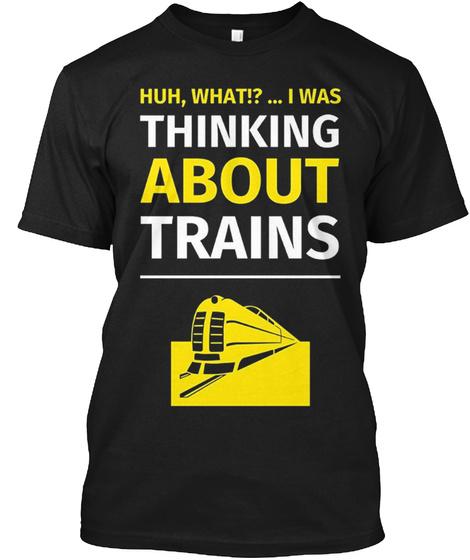 Funny Locomotive Engineer Shirt  Black T-Shirt Front
