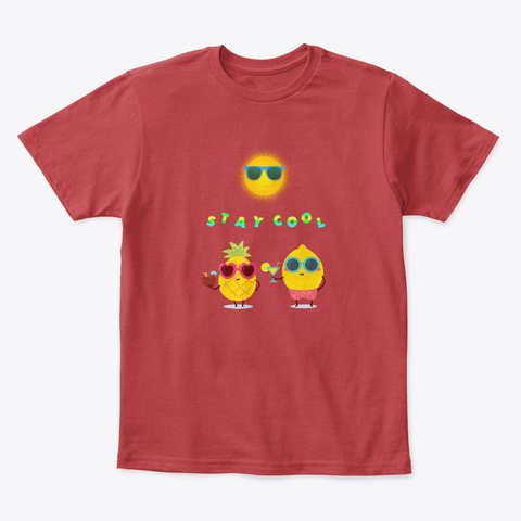 Stay Cool Fresh N Fruity Classic Red T-Shirt Front
