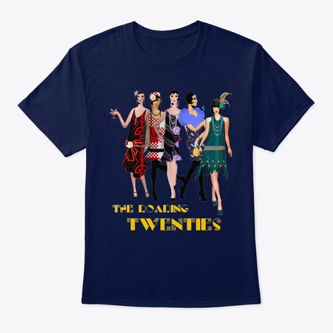 The Roaring 20s Dancers Navy T-Shirt Front
