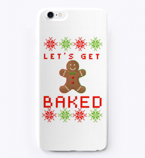 Christmas Gingerbread Man Iphone Case White T-Shirt Front