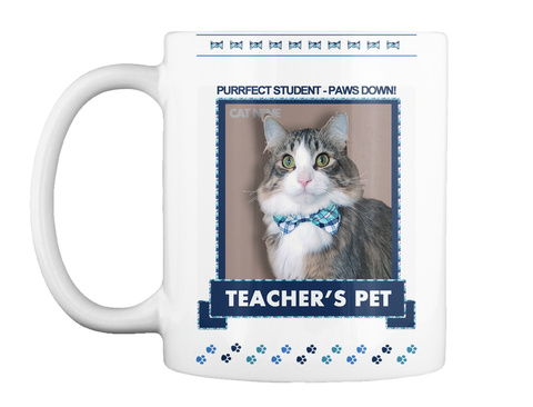 Teacher's Pet Purrfect Student White Mug Front