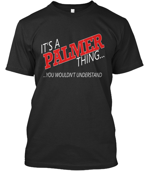 Palmer Special Tees Black T-Shirt Front