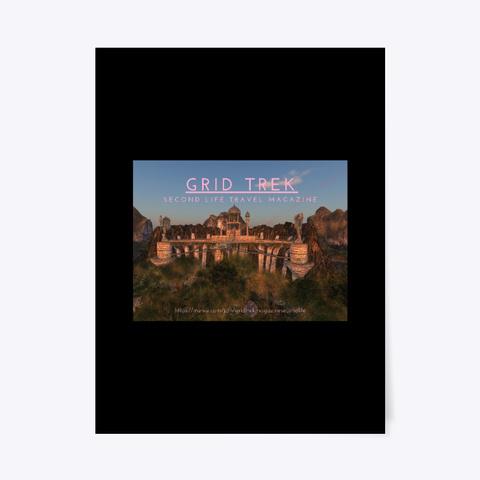 February 2020 Grid Trek Magazine Poster Black T-Shirt Front