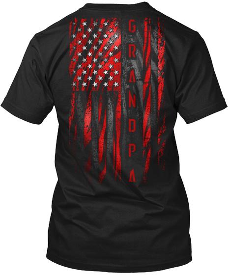 Grandpa Black T-Shirt Back